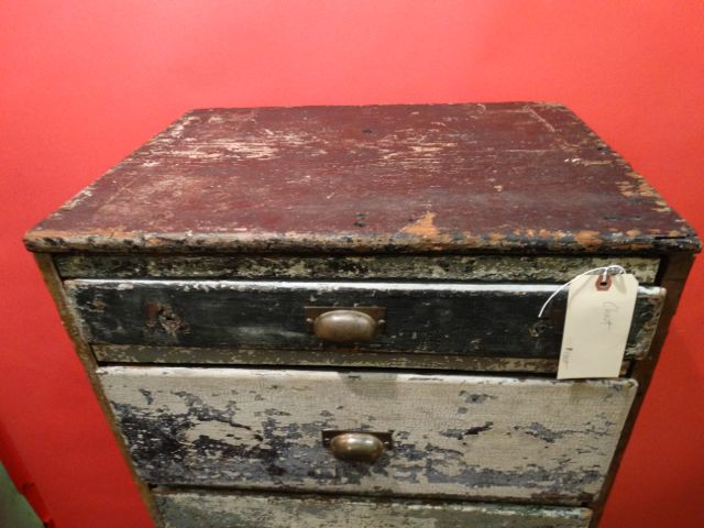 California Primitive Folk Furniture Tall Drawer Unit