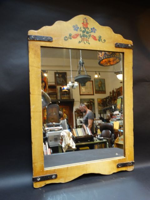 Very Large Monterey Classic Mirror in Straw Ivory