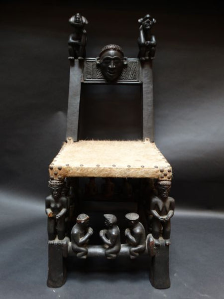 "Figurative African Chair late 19th–Early 20th Century ""Two Chieftains"""