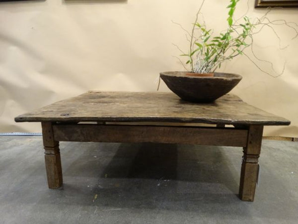 Reclaimed 18th Century Mexican Wood Coffee Table