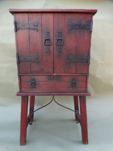 Imperial Classic Red Radio Cabinet