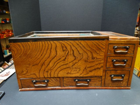Late 19th Century Japanese Rosewood 5-Drawer Tea Hibachi