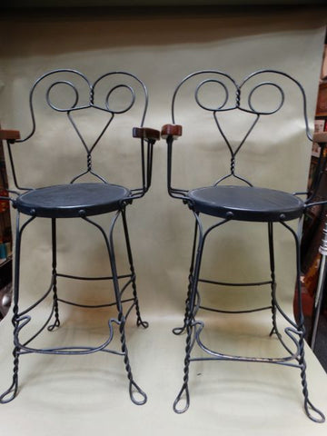 French Wrought Iron Barstools