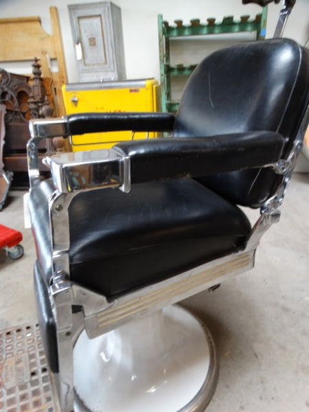 Emil J. Paidar Black Barber Chair