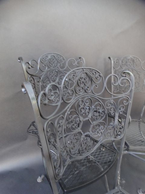Spanish Revival Salterini Wrought Iron Armchairs