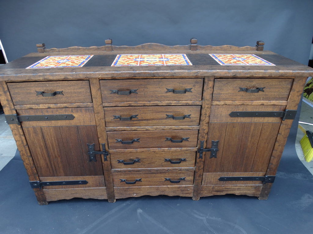 Imperial Monterey Style Malibu Tile Top Sideboard