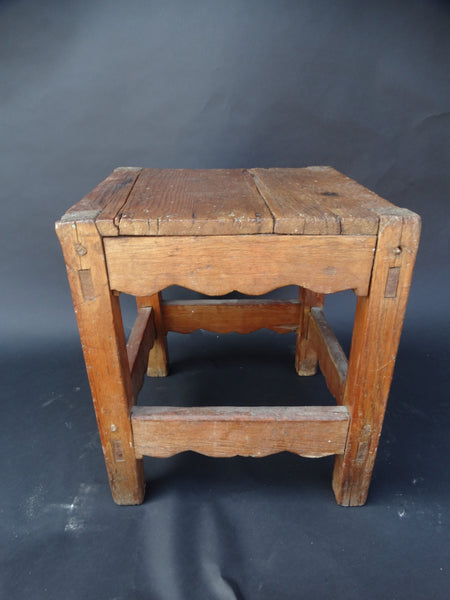 New Mexican Mesquite Primitive 19th Century Stool Side Table