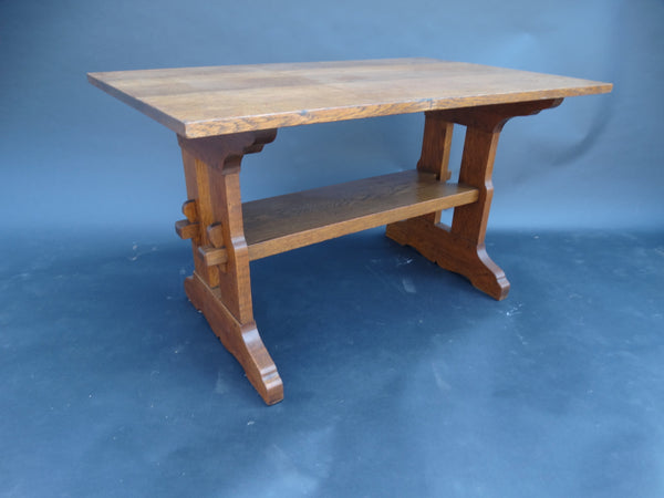 Gustavo Stickley Trestle Library Table