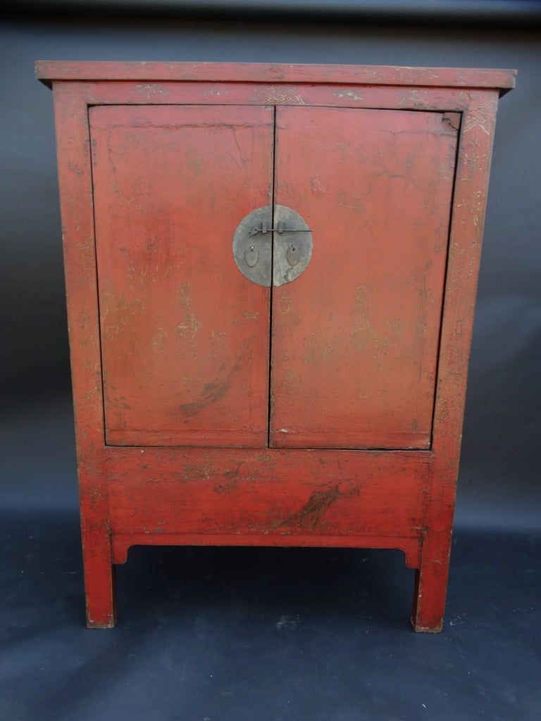 19th Century Chinese Lacquered Wall Cabinet