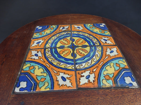 Imperial/Monterey-Style Tile Top Side Table