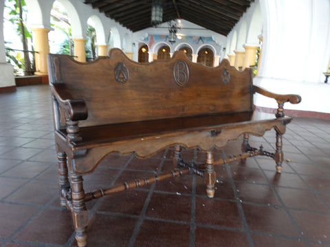 George Hunt Santa Barbara Biltmore Spanish Revival Bench