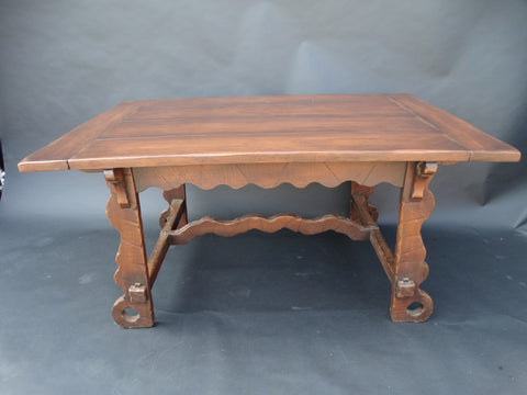 Monterey Classic Trestle Table w 4 Leaves c 1930