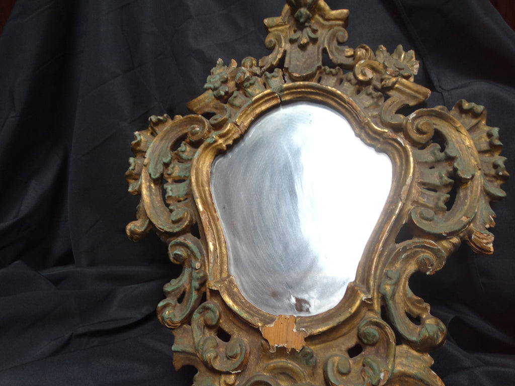Baroque 18th Century Hand-Carved Mirror