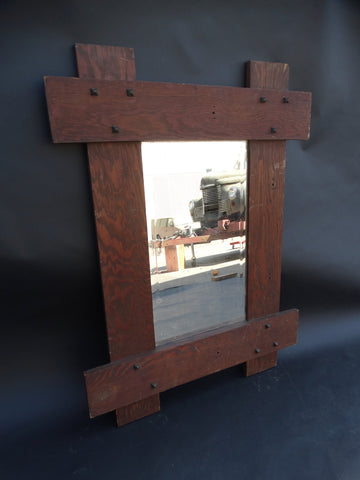 Arts & Crafts Mirror in Old Growth California Fir
