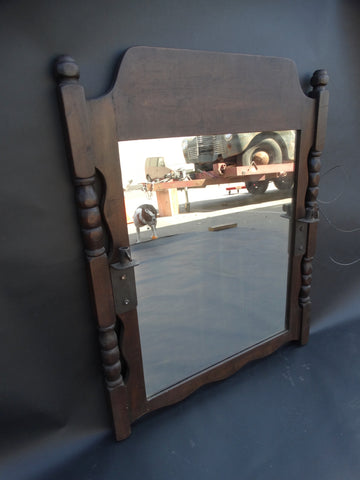 Monterey Old Wood Mirror with Candleholders