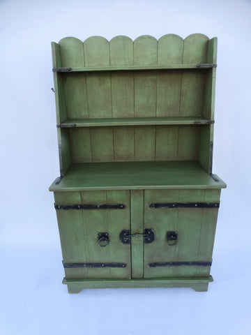 Monterey Classic Spanish Green Welsh Cupboard