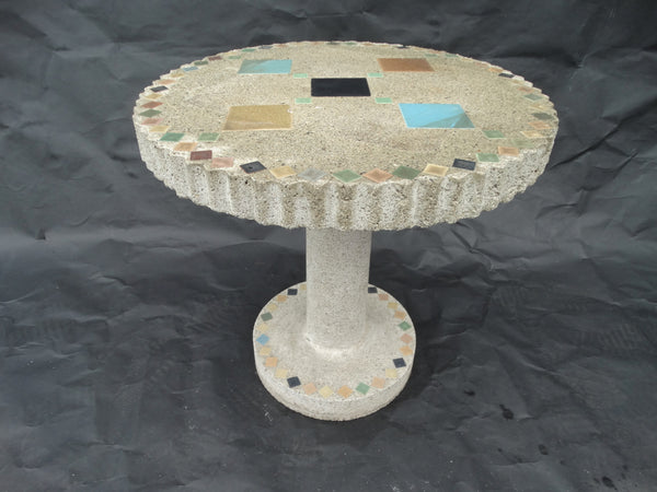 Hollywood Cement Hillside-style Side Table