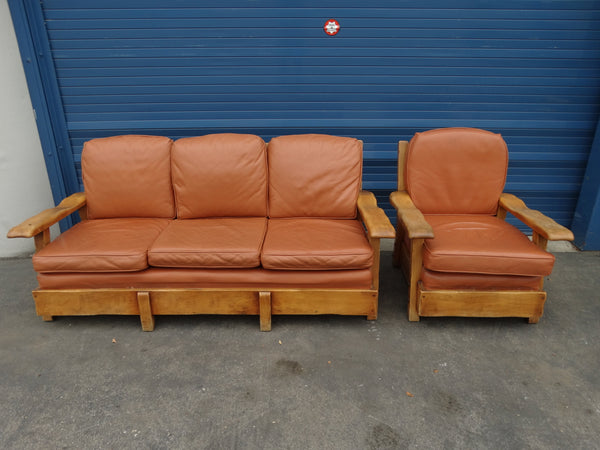 Coronado 2-piece set: Couch and Lounge Chair c 1937