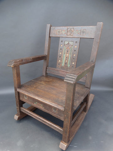 Possible Jesse L Nusbaum Rocking Chair c 1917-25