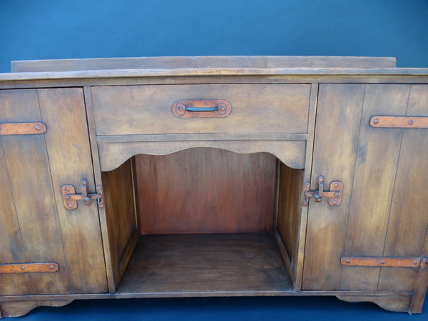 Monterey Classic Sideboard in Cedar w Orange Hardware c 1931
