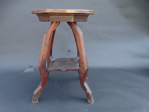 New Mexico Folk Art Lamp Table/Side Table c 1920s