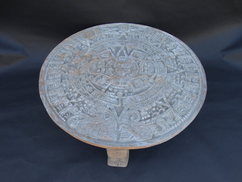 Mayan Mexican Aluminum Calendar Patio Table