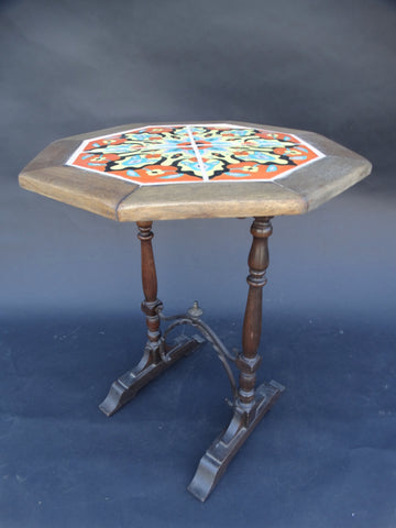 Santa Monica Tile & Brick Tile Top Wood Table