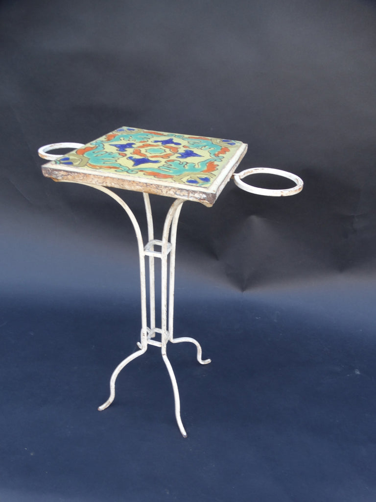 D & M Drink Stand, Wrought Iron Base