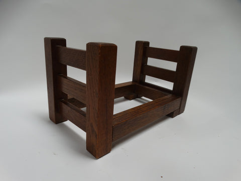 GUSTAV STICKLEY NO. 60 OAK SLIDING BOOK RACK