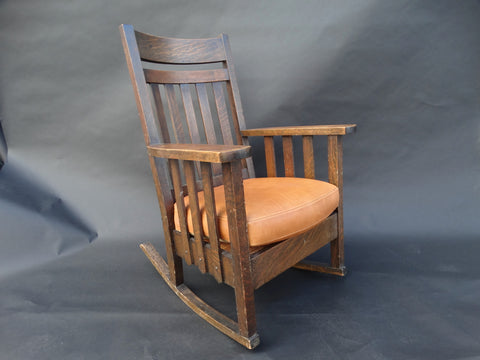 Arts & Crafts Flame Oak Rocking Chair