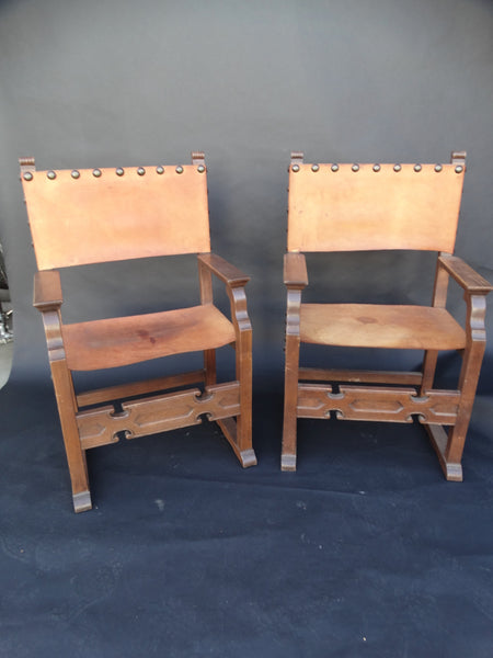 Pair of Marshall Laird Spanish Colonial Armchairs circa 1927