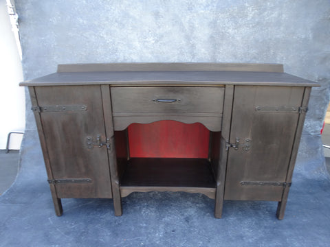 Monterey Classic Old Wood Sideboard c 1931