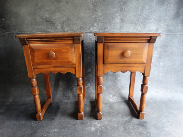 Monterey Bedside Tables in Smokey Maple circa 1935 F2180