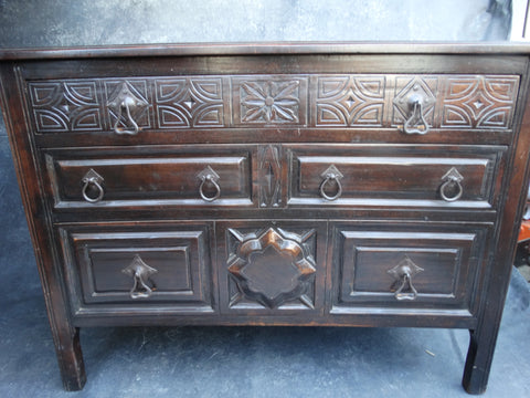 Spanish Colonial Three-Drawer Standing Chest circa 1927 F2188