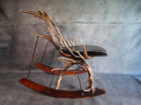 Folk Art Antler Rocker dated 1866 F2199
