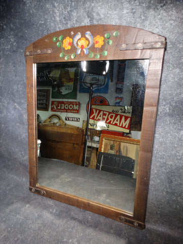 Monterey Old Wood Decorated Mirror c 1931 F2205