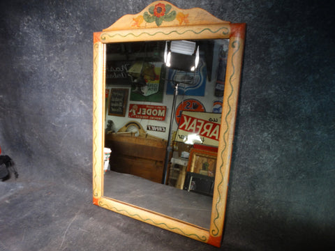 Monterey Crackle Finish Decorated Mirror c 1933-35 F2206