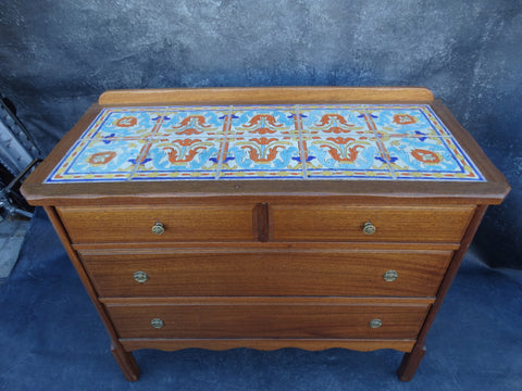 Beacon Tavern Karpin D & M Tile Top Dresser circa 1930 F2216