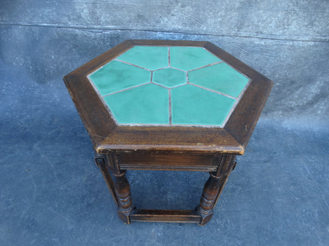 Catalina Descanso Green 7-tile Island Base Table  c 1930 F2223