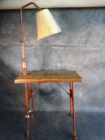 Monterey Painted Wrought Iron and Wood Lamp Table c 1933-35 F2226