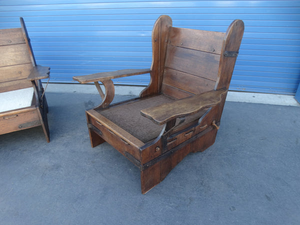 Imperial Buckaroo Pair of Slab-Sided Rope Seat Wing Chairs circa 1933 F2229