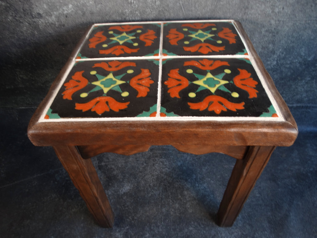 Monterey Classic Taylor Tile top table in dark Smokey Maple F2232