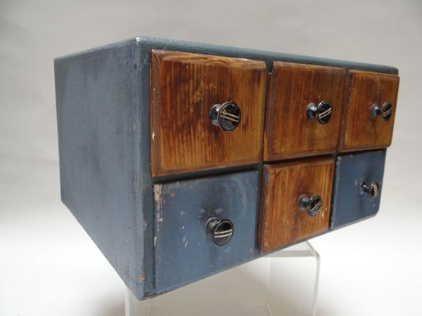 Folk Art Double-sided Box of Drawers