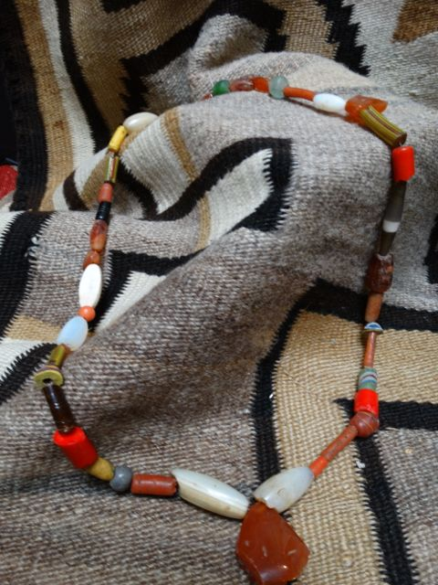 American Indian Trade Beads Orange & Red