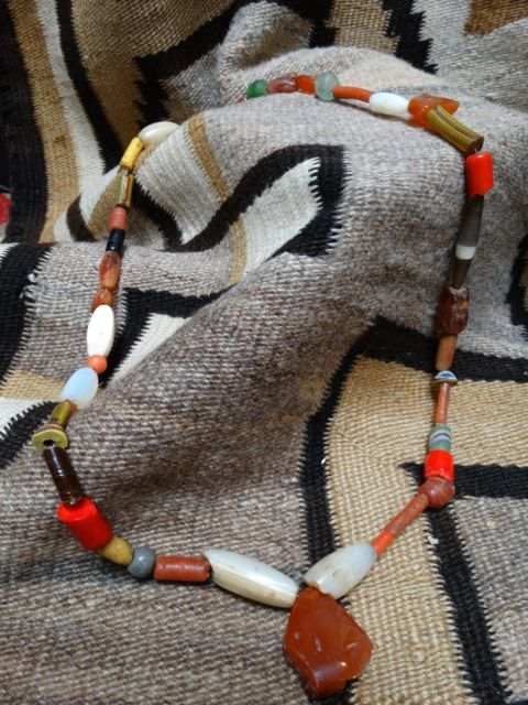 American Indian Trade Beads Orange Red Early California Antiques Shop