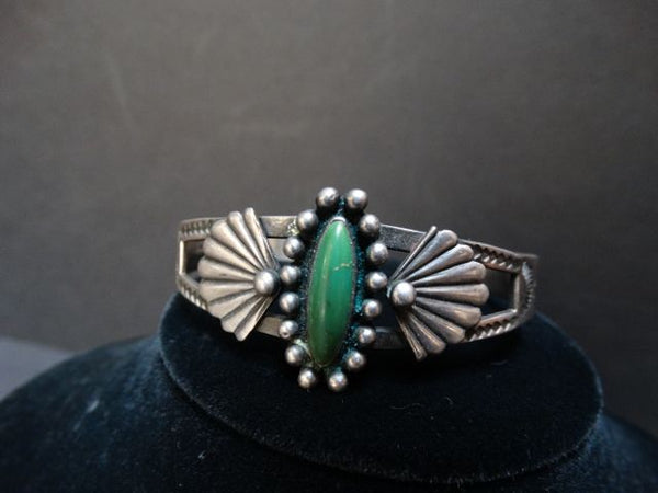 Green Turquoise Oval Bracelet