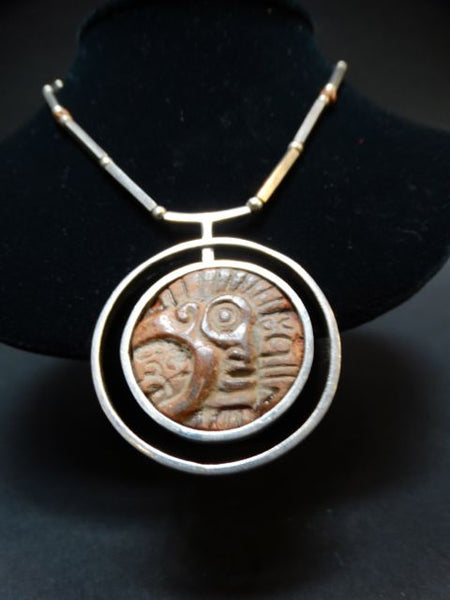 Los Castillos Pre-Columbian Artifact and Silver Pendant