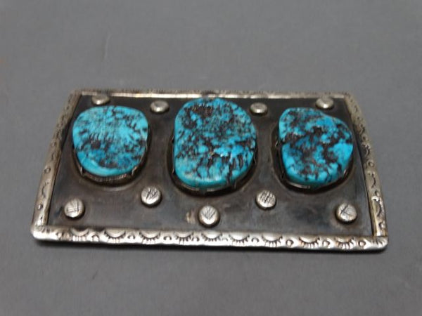Silver and Turquoise Native American Ketoh/Bow