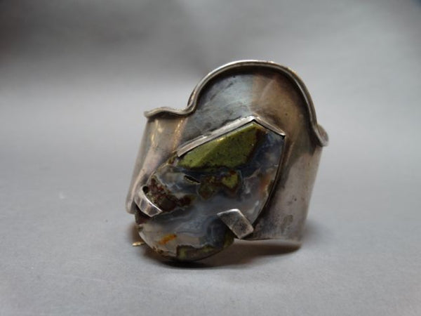 Mexican Modern Cuff with Large Agate