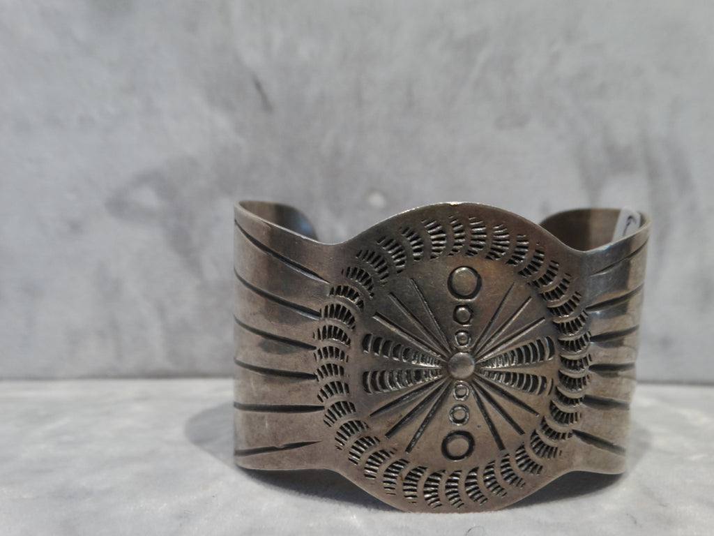 Navajo Silver Hand-stamped Cuff